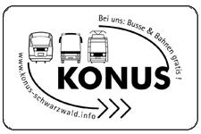 Logo KONUS Gaestekarte Schwarzwald Busse und Bahnen gratis